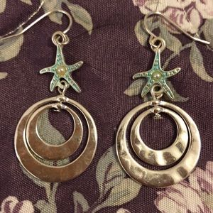 Jewelry - Starfish earrings with sterling silver posts